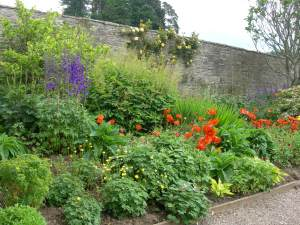 Small section of the Walled Garden at Blair Castle.
