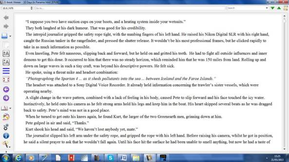 Screenshot from a PC using the Kindle App (an excerpt from my novel)