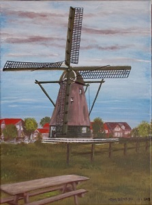 Windmill painting - acrylic on canvas